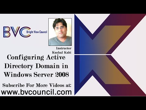 Configuring ACTIVE DIRECTORY DOMAIN In Windows Server 2008
