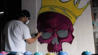 Painting Live with Qean- Skull King