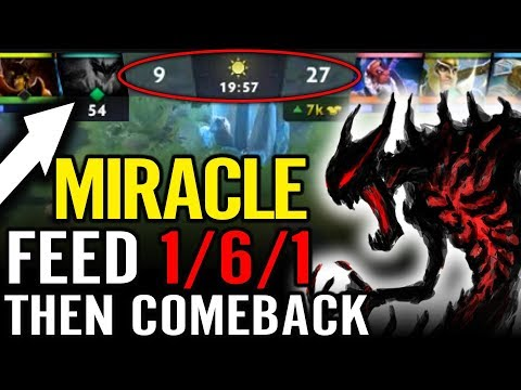 Miracle SF Feed and COMEBACK Best Tactic of Miracle- Dota 2