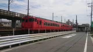 JR西日本 キハ40系+キハ47系 3両編成 矢賀 到着〜発車
