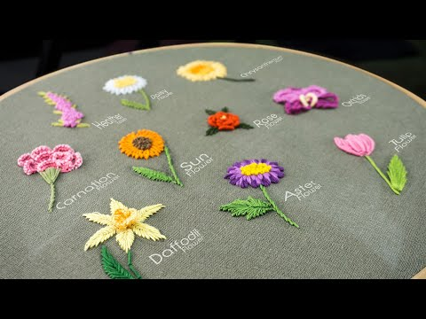 10 Gorgeous Flower Ideas: Hand Embroidery Art with Simple Stitches
