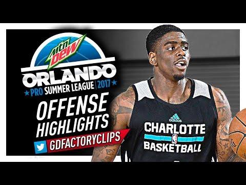 Dwayne Bacon 2017 Summer League Offense Highlights - Hornets Debut!