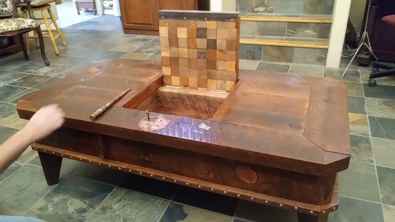 Magic themed hidden compartment coffee table. Wizard coffee table & Magic themed hidden compartment coffee table. Wizard coffee table ...
