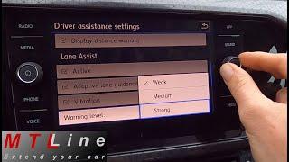 VW T-Cross, MY2020 - activation of menu for Lane Assist counter steer adjustment