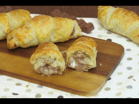 Roll up the chocolate bars in puff pastry: a tasty treat ready in minutes!