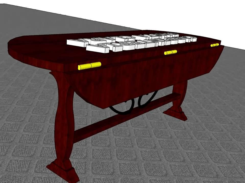 Mesa abatible con alas carpinteria santa clara youtube for Mesa alas abatibles