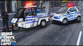 GTA 5 LSPDFR #555 | NYPD Mini Sized Parking Enforcement | Go 4 Police Interceptor & Smart Car