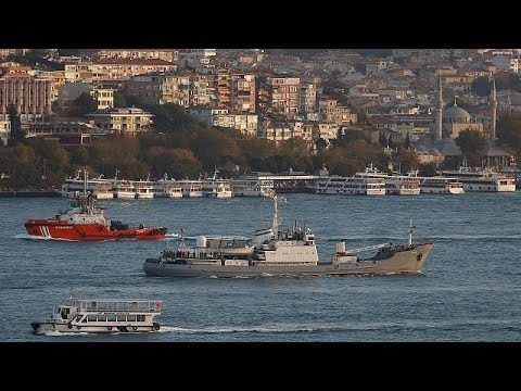 Russian warship collides with freighter in the Black Sea