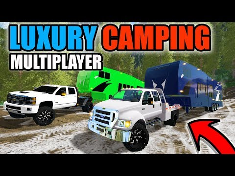 FARMING SIMULATOR 2017 | LUXURY CAMPING WITH NEW CAMPERS, RZR & F-650 | MULTIPLAYER
