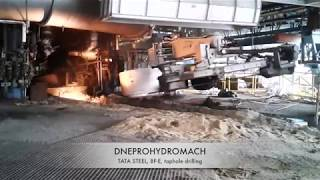 Blast Furnace taphole drilling