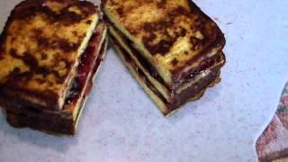 Ultimate French Toast Peanut Butter & Jelly Breakfast Sandwich .  .  .