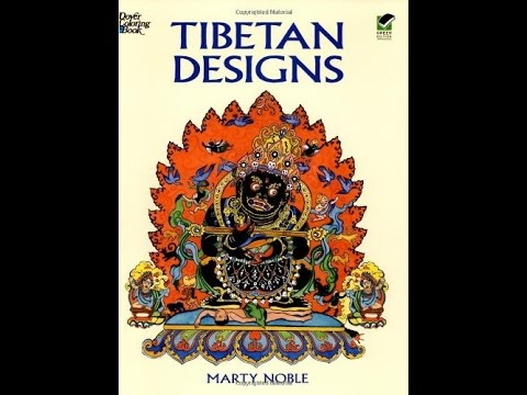 Flip Through Dover Tibetan Designs Coloring Book