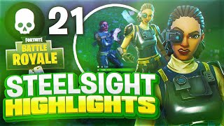 New Steel Sight Fortnite Battle Royale Faits saillants #5! Objectif de pomme de terre - IQ Plays! Top Console Gunner!