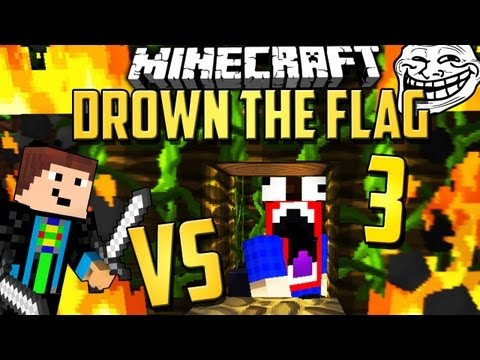 TROLL STRATEGIE? :D - DROWN THE FLAG 3 *neu* - Minecraft PvP Capture the Flag Map [Deutsch]