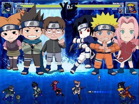 Naruto Mugen Konohamaru, Moegi and Udon vs Naruto, Sakura ...