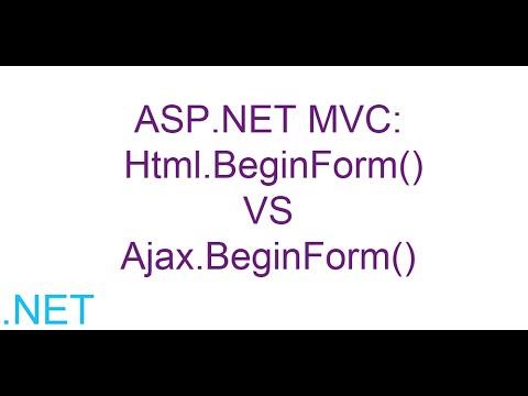 ASP.NET MVC: Html.BeginForm() VS Ajax.BeginForm()