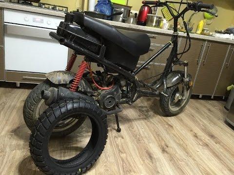Замена резины на скутере (как поменять покрышку заднего колеса на скутере) (Babzor.ru)