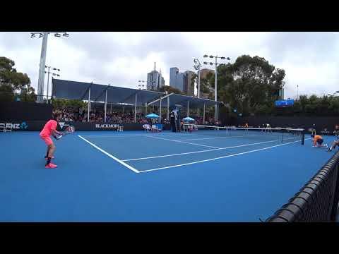 David Ferrer vs Andrey Rublev Australian Open 2018 HD Court level
