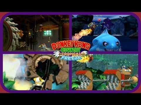 Donkey Kong Country: Tropical Freeze-All Mine Cart/Rocket Barrel Levels