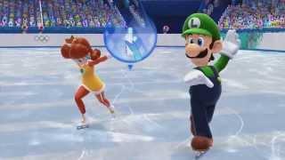 Mario & Sonic at the Sochi 2014 Olympic Winter Games - Luigi & Daisy in Figure Skating Pairs