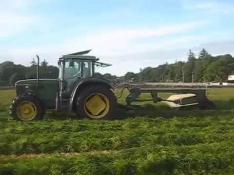Silage harvesting and bailing Summer 2014