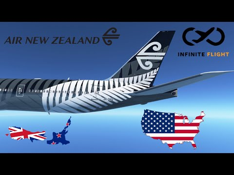 Infinite Flight GLOBAL: Auckland (AKL) To Los Angeles (LAX)   TIMELAPSE   Air New Zealand B777