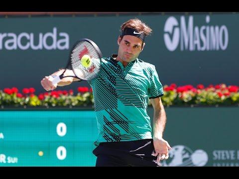 BNP Paribas Open 2017: Roger Federer Hot Shot