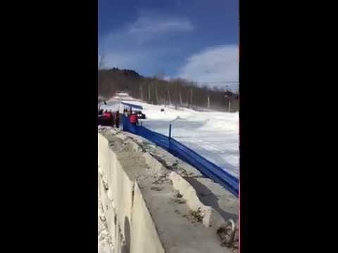 LoanMart Racing's RJ Anderson practice run at Red Bull Frozen Rush 2015