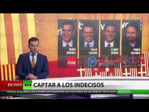 RT en Español: Candidatos a la presidencia del Gobierno español se enfrentan en un debate televisivo