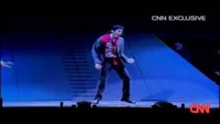 Майкл Джексон за 2 дня перед смертью.