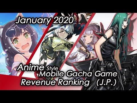 (J.P.) January 2020 Anime Gacha Mobile Game Revenue Tier List