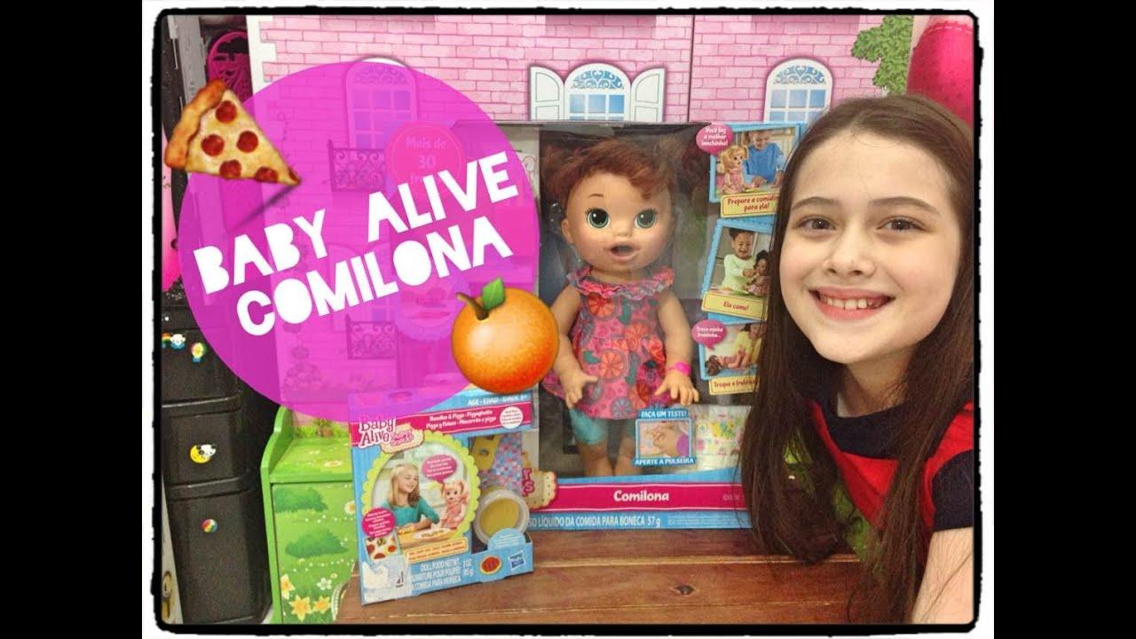 Baby Alive Comilona Camilie E Comidinhas Julia Silva Youtube