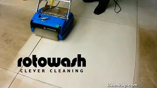 Rotowash Floor and Carpet Cleaning On-Site Demonstrations