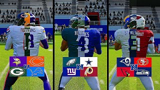 The NFC...But Each Division Combines Their Starting Quarterbacks Into 1 Player!