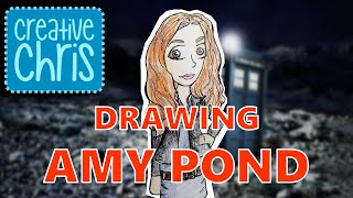 amy pond from doctor who drawing lesson