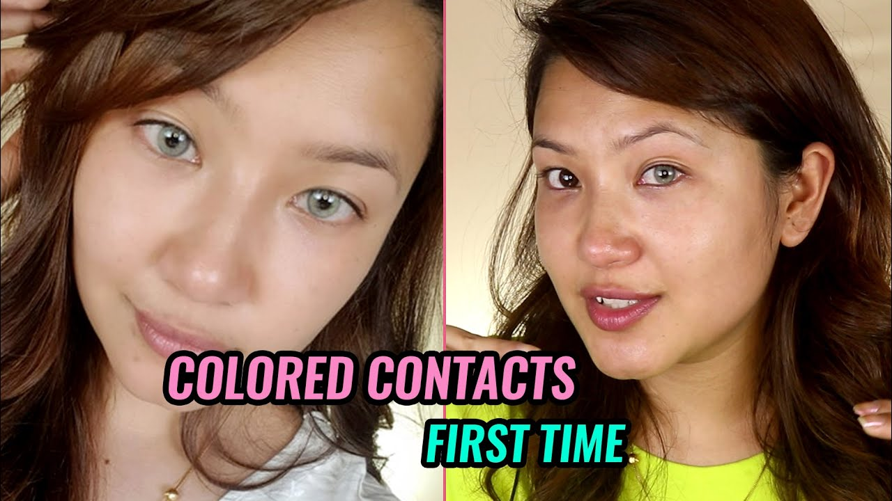 TRYING COLORED CONTACTS FOR THE FIRST TIME | NEPALI MAKEUP | VERA LENS NEPAL | ALISHA