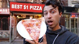Living Cheap in NYC - Dollar Pizza Challenge !