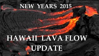 1/01/2015 -- New lava flow flyover -- Pahoa Hawaii marketplace may be spared!