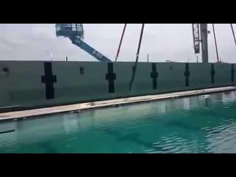 Lifting Bulkhead into the Pool