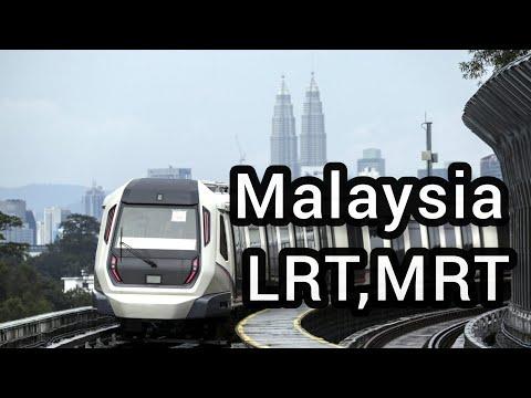 Malaysia LRT,MRT, Mono train Travel  time  full HD video