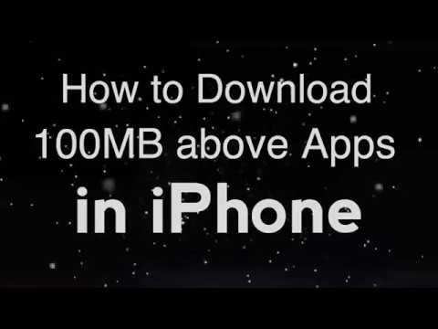 How To Download 100mb Above Apps In Iphone Yt