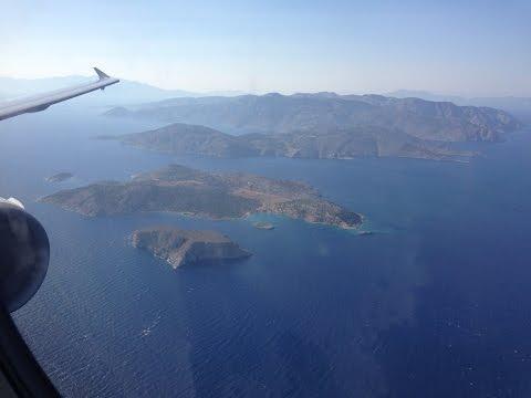 Aegean A321 approach landing taxi @ RHO Rhodes Airport