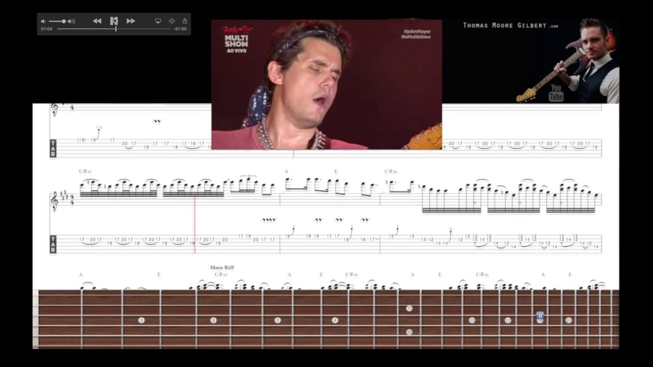 John Mayer - Slow Dancing Outro Solo TAB Analysis (Rock in Rio 2013 ...