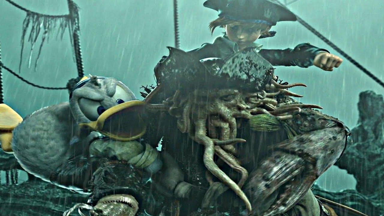 Kingdom Hearts 3 Davy Jones Boss Fight Ending Pirates Of