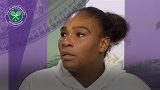 Serena Williams says her form is starting to improve | Wimbledon 2018