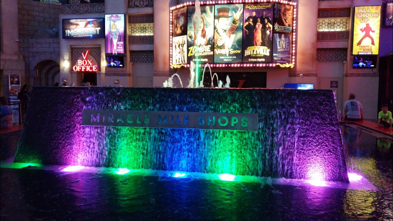 Fountain Show at Miracle Mile Shops - Las Vegas