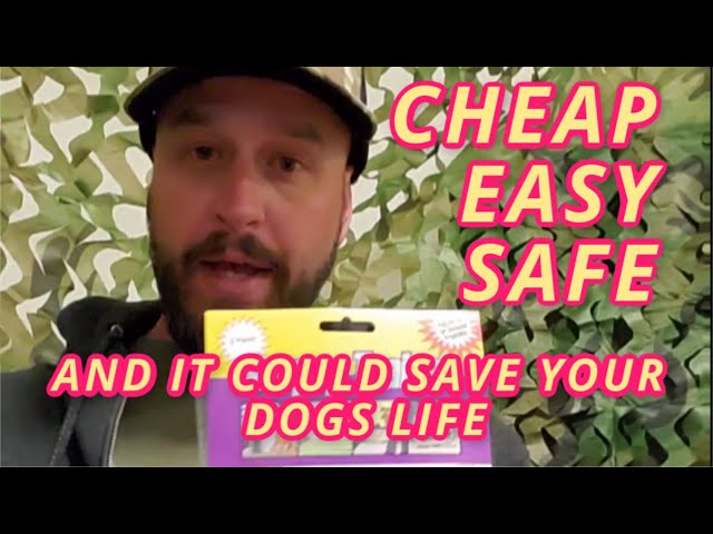 This Safe... Cheap.. and Easy tool could Save your dogs Life...