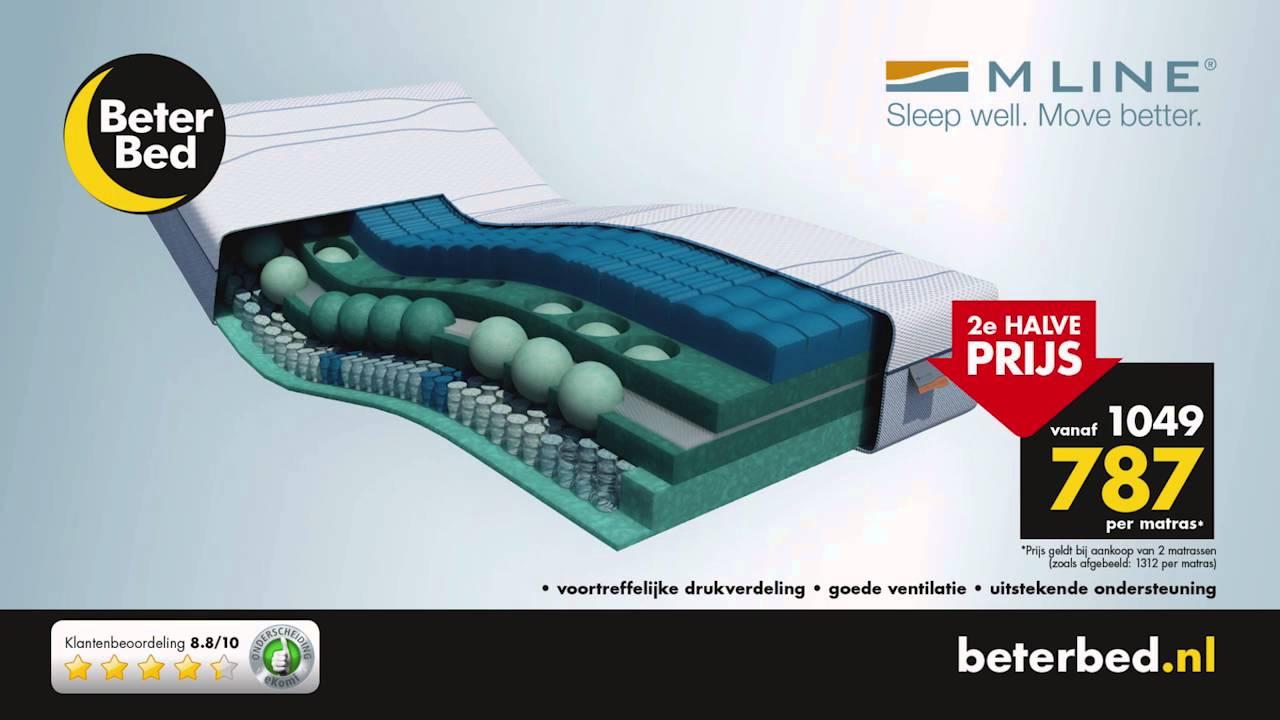 M Line Matras : Topruiming bij beter bed nu de e m line matras voor de halve