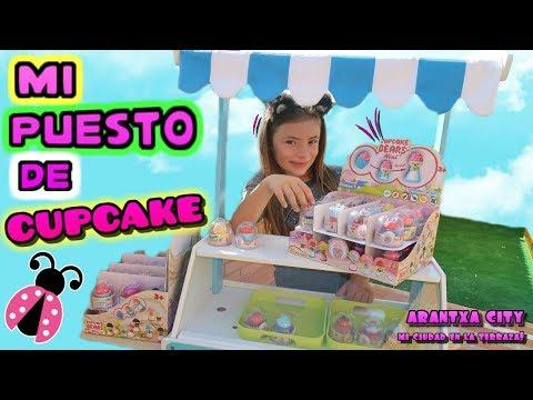 Arantxa City 🏡 Puesto de Cupcake Bears Mini en mi ciudad - Los juguetes de Arantxa