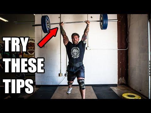 PRESS MORE OVERHEAD simple tips (Stronger press, push press, jerks)